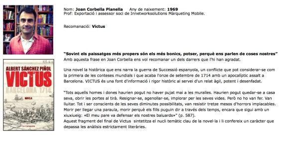 Joan Corbella recomanació